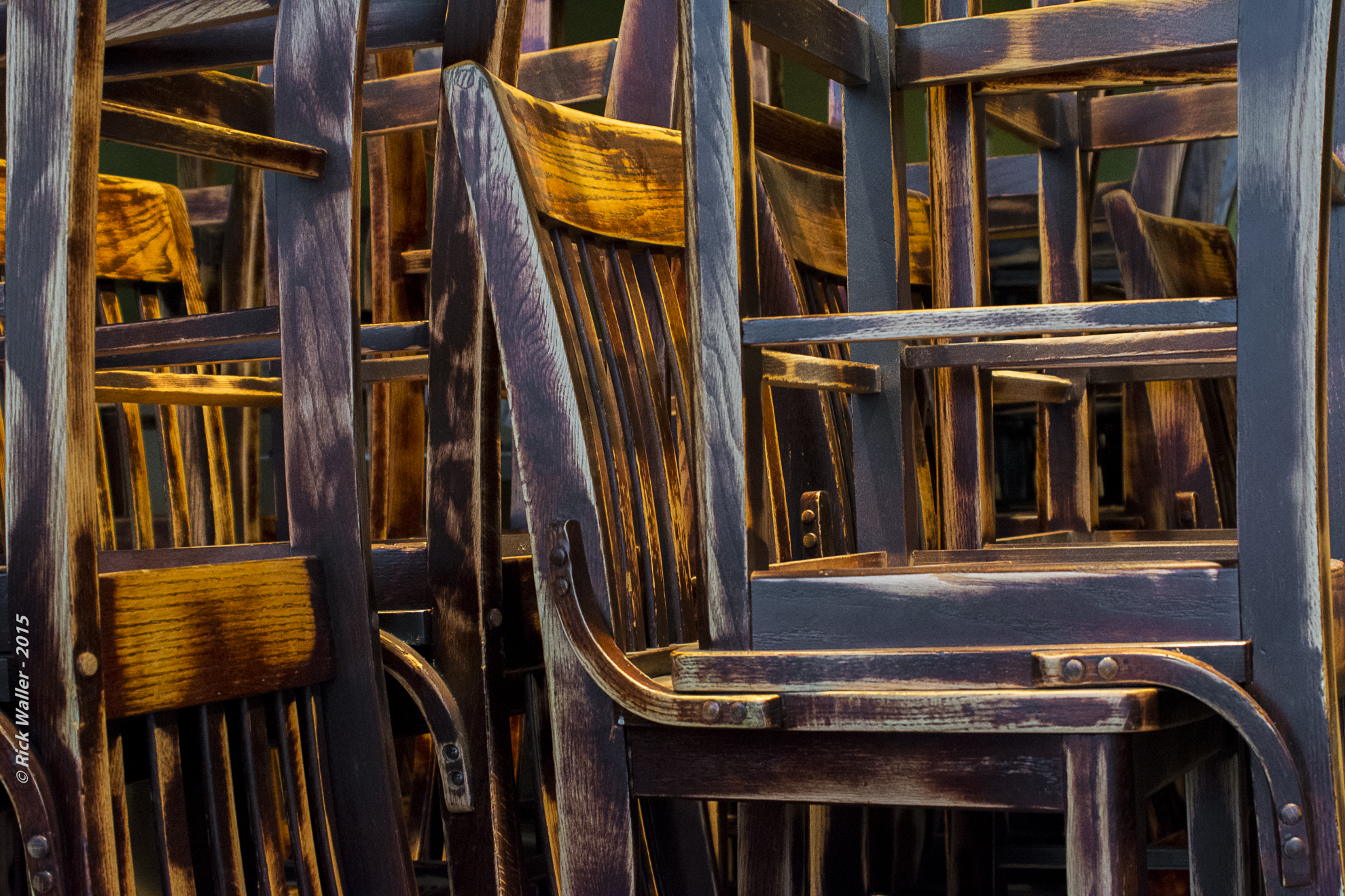 Recycled Chairs - Unwined at 980 © Rick Waller 2015 1980 - UW