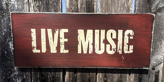 Unwined Chico - Live Music - Wood Sign
