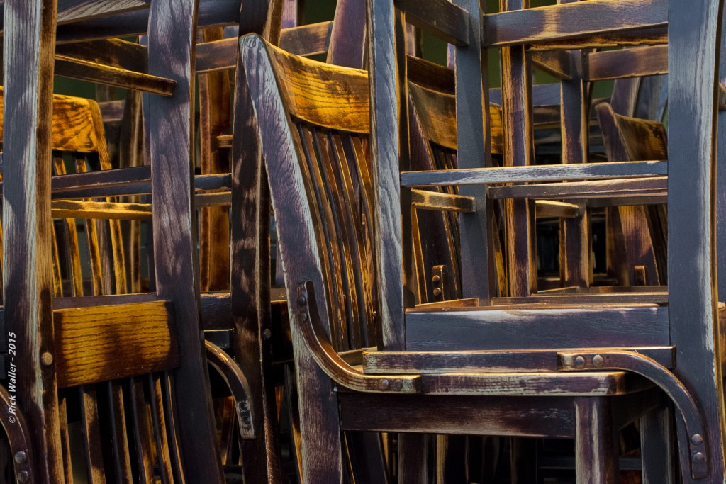 Recycled Chairs - Unwined Chiico © Rick Waller 2015 1980 - UW